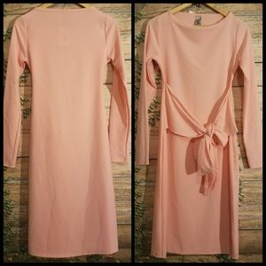 NWT Go Couture Long Sleeve Front Tie Dress Size M